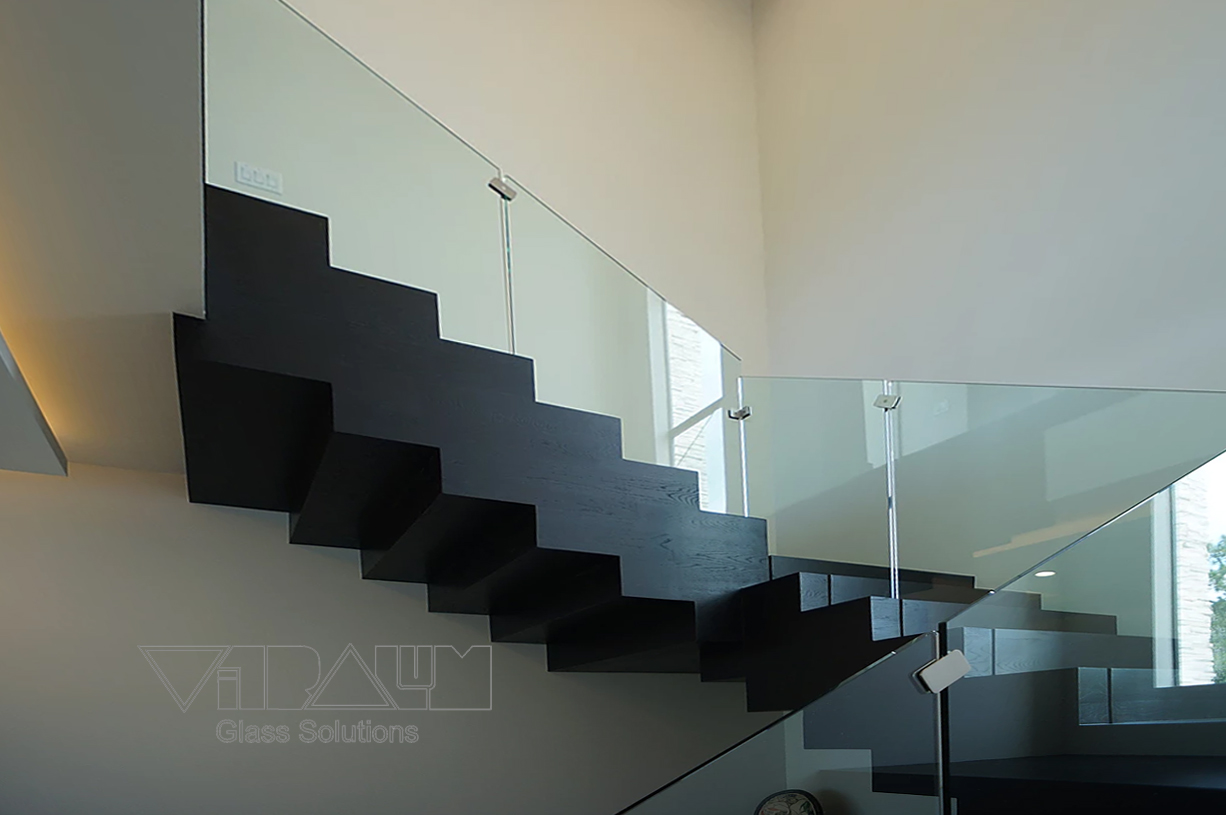Recessed Frameless Glass Railing