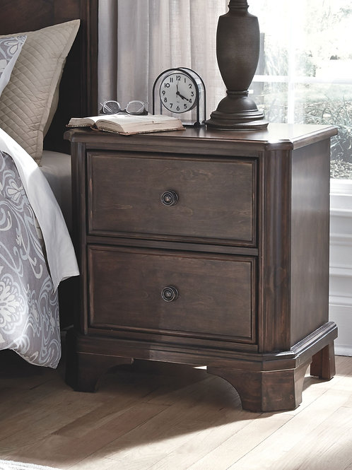 Adinton - Brown - Two Drawer Night Stand
