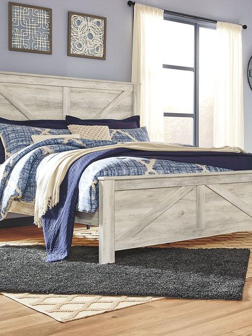 Bellaby - Whitewash - King Panel Bed