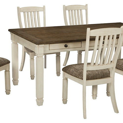 Bolanburg - Antique White - 7 Pc. - RECT DRM Table & 6 UPH Side Chairs