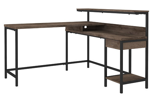Arlenbry - Gray - L-Desk with Storage