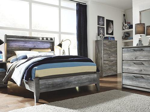 Baystorm - Gray - 4 Pc. - Dresser, Mirror & Full Panel Bed