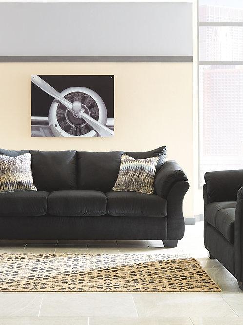Darcy - Black - Sofa & Loveseat