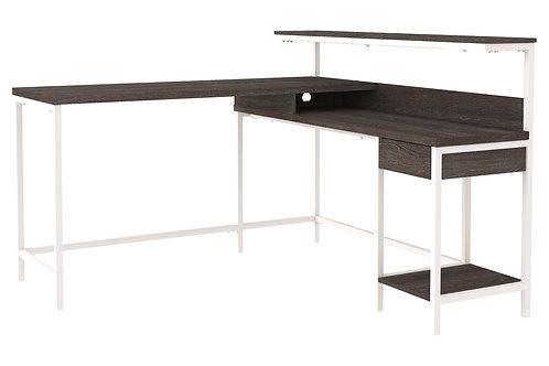 Dorrinson - Two-tone - L-Desk with Storage