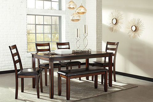 Coviar - Brown - Dining Room Table Set (6/CN)
