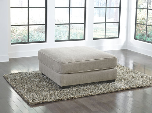 Ardsley - Pewter - Oversized Accent Ottoman