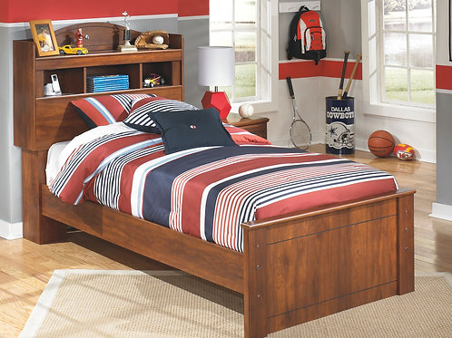 Barchan - Medium Brown - Twin Panel Bed