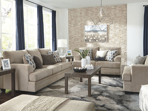 Dorsten - Sisal - Sofa, Loveseat, Chair and a Half & Ottoman