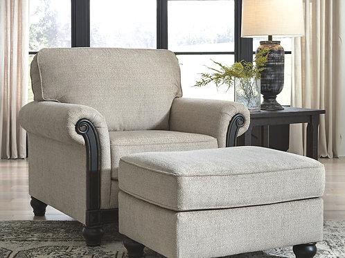 Benbrook - Ash - Chair with Ottoman