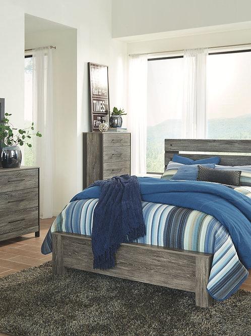 Cazenfeld - Black/Gray - 6 Pc. - Dresser, Mirror, Chest & Queen Panel Bed