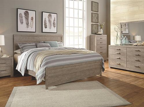 Culverbach - Gray - 5 Pc. - Dresser, Mirror & King Panel Bed