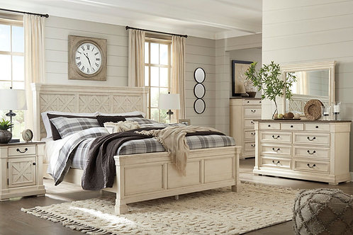 Bolanburg - Two-tone - 5 Pc. - Dresser, Mirror & Queen Panel Bed