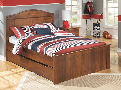 Barchan - Medium Brown - Full Panel Bed with Trundle