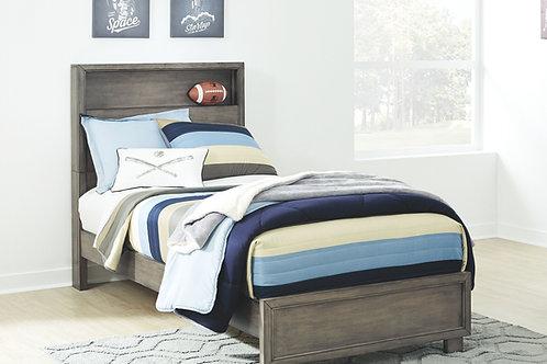 Arnett - Gray - Full Bookcase Bed