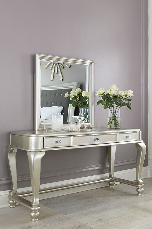Coralayne - Silver - Vanity Mirror