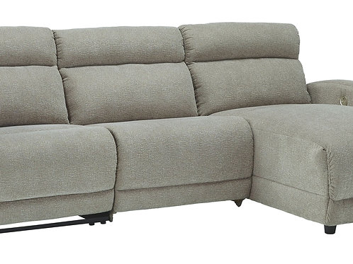 Colleyville - Stone - LAF Power Recliner, Armless Chair, RAF Chaise Sectional