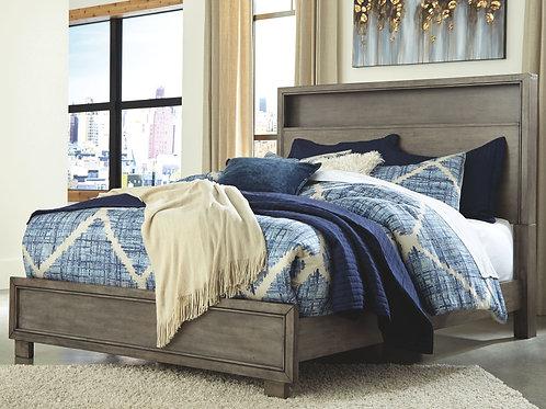 Arnett - Gray - King Bookcase Bed