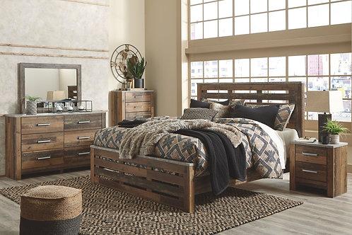Chadbrook - Brown - 6 Pc. - Dresser, Mirror, Chest & King Panel Bed