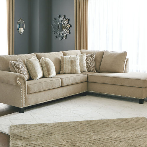 Dovemont - Putty - 2 Pc. - LAF Sofa, RAF Corner Chaise Sectional