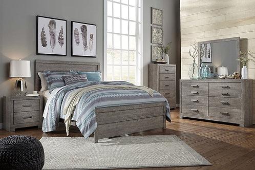 Culverbach - Gray - 5 Pc. - Dresser, Mirror & Queen Panel Bed