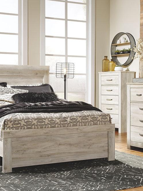 Bellaby - Whitewash - 5 Pc. - Dresser, Mirror & Queen Panel Bed