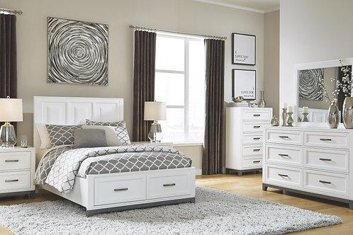 Brynburg - White - 6 Pc. - Dresser, Mirror, Chest & Full Panel Bed