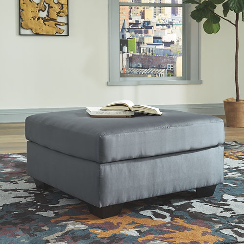 Darcy - Steel - Oversized Accent Ottoman