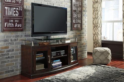 Chanceen - Dark Brown - Medium TV Stand/Fireplace OPT