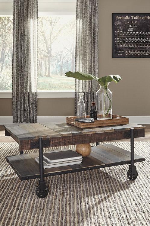 Bostweil - Light Brown/Black - Rectangular Cocktail Table