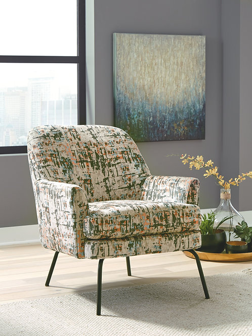 Dericka - Beige/Green - Accent Chair