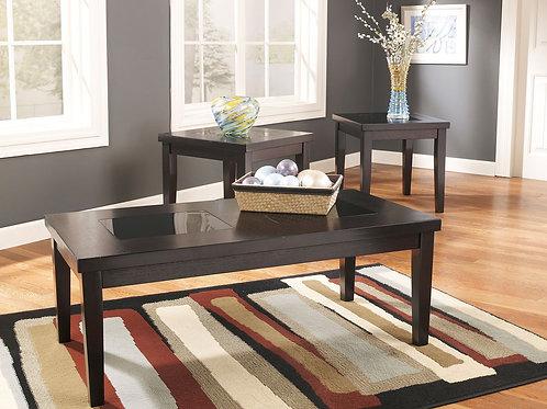 Denja - Dark Brown - Occasional Table Set (3/CN)