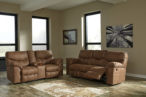 Boxberg - Bark - REC PWR Sofa & DBL REC PWR Loveseat with Console