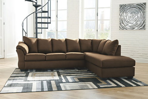 Darcy - Cafe - LAF Sofa & RAF Corner Chaise Sectional