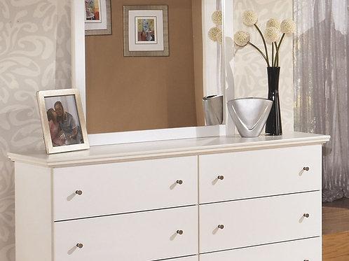 Bostwick Shoals - White - Bedroom Mirror