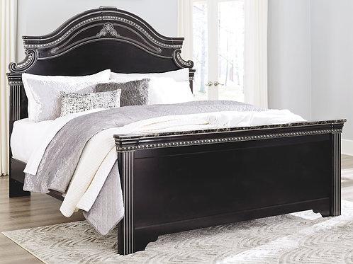 Banalski - Dark Brown - King Panel Bed