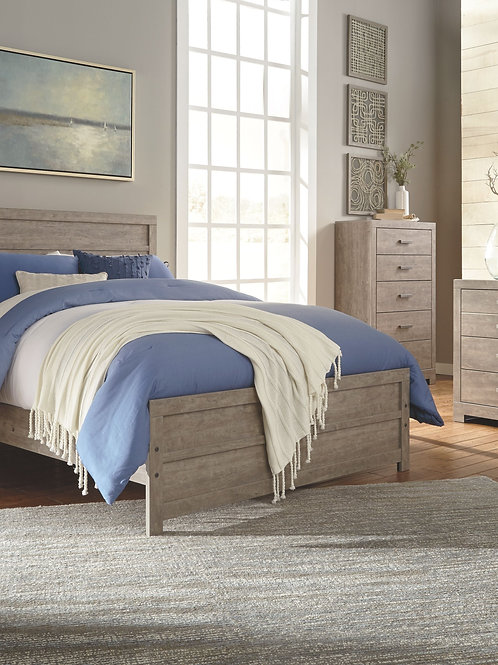 Culverbach - Gray - 7 Pc. - Dresser, Mirror, Chest, Queen Panel Bed & Nightstand
