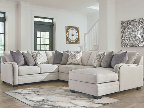 Dellara - Chalk - 4-Piece Sectional with Chaise
