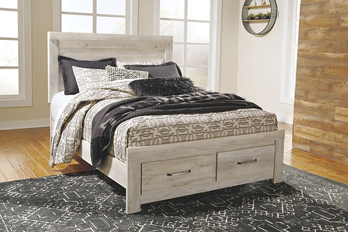 Bellaby - Whitewash - Queen Panel Storage Bed