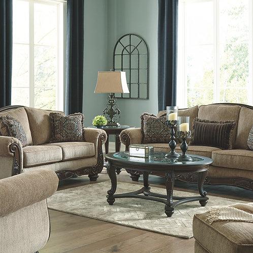 Briaroaks - Mocha - Sofa, Loveseat, Chair & Ottoman