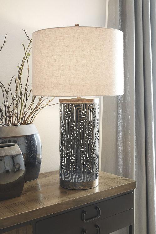 Dayo - Gray/Gold Finish - Metal Table Lamp (1/CN)