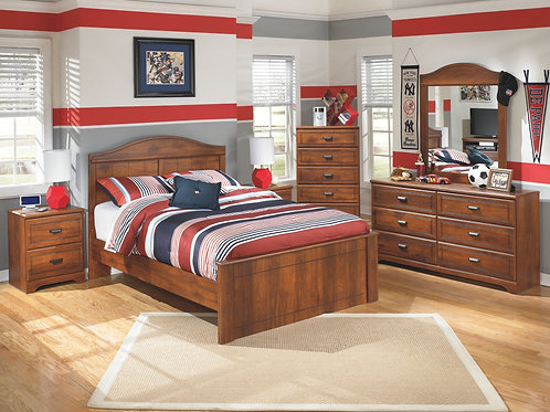 Barchan - 5 Pc. - Dresser, Mirror & Full Panel Bed