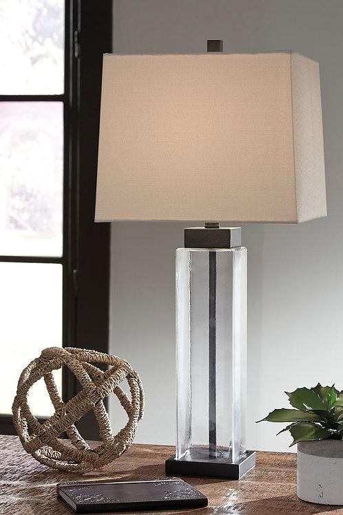 Alvaro - Clear/Bronze Finish - Glass Table Lamp (2/CN)
