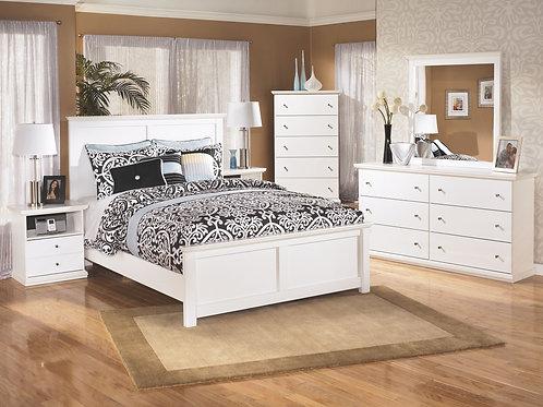 Bostwick Shoals - White - 6 Pc. - Dresser, Mirror, Chest & Queen Panel Bed