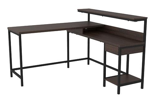 Camiburg - Warm Brown - L-Desk with Storage