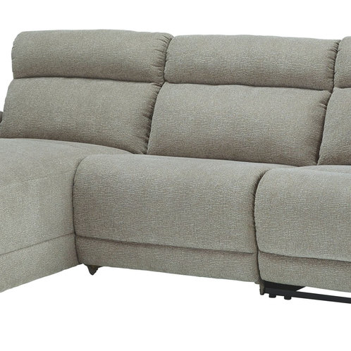Colleyville - Stone - LAF Power Chaise, Armless Chair, RAF Recliner Sectional