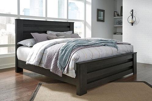 Brinxton - Black - King Panel Bed