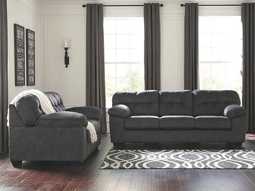 Accrington - Granite - Sofa & Loveseat