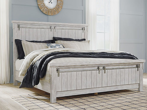 Brashland - White - King Panel Bed