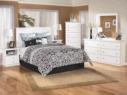 Bostwick Shoals - White - 3 Pc. - Dresser, Mirror & Queen Panel Headboard