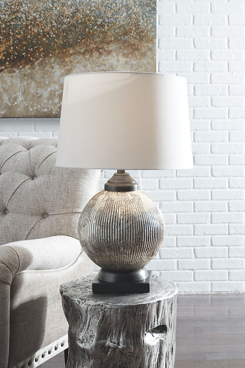 Cailan - Silver/Bronze Finish - Glass Table Lamp (1/CN)